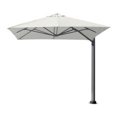"9'10"" Square Uno Arctic White Umbrella, Portable Base"