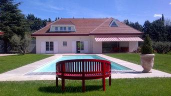 Contrsction d'un Pool- House , avec salle de sport et piscine