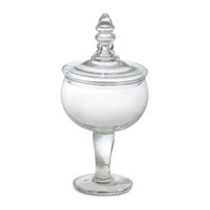 Global Views Glass Apothecary Jar Small Bathroom Canisters