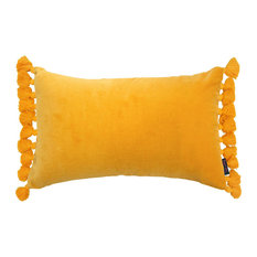 Terry Tassel Modern Cushion, Gold