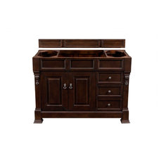 """Brookfield 48"""" Single Cabinet Drawers Burnished Mahogany - Base Cabinet Only"""