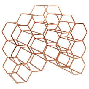 Pico 15 Stackable Wine Rack, Copper
