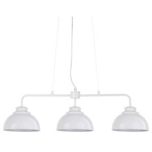 Brooklyn 3 Light Industrial Ceiling Pendant Bar, White