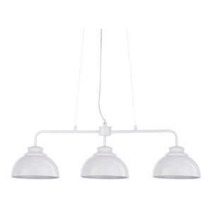 Brooklyn 3 Light Industrial Ceiling Pendant Bar, White
