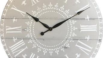 Oversized wood wall clocks