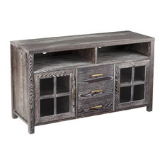 southern enterprises media console cabinet gray finish centers and tv stands