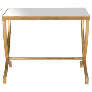Safavieh Lauren Accent Table, Gold and Mirror