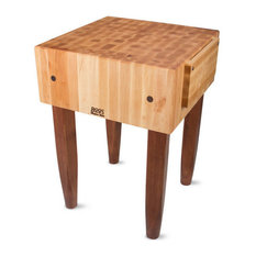 John Boos 10-inch Thick Kitchen Butcher Block And Wood Knife Holder Cherry Stain