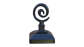 "Wrought Iron Spiral Post Cap for 4""x4"" Wood Post"