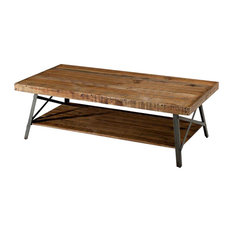 Industrial Chic Modern Classic Reclaimed Wood and Metal Coffee Table