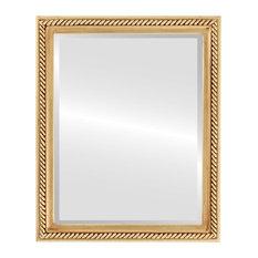 "Santa Fe Framed Rectangle Mirror in Gold Leaf, 26""x38"""