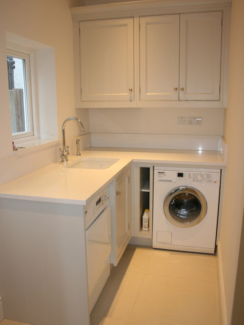 Laundry Room Design Ideas Renovations Photos With Grey Cabinets