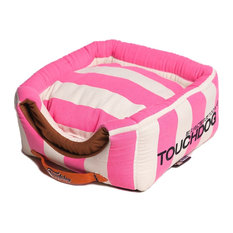 Touchdog Polo-Striped Convertible and Reversible 2-in-1 Dog House Bed