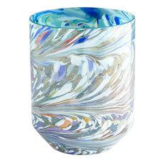 Round Wanaka Vase in Jade Mosiac