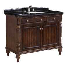Solid Wood Sink Vanity With Granite Top, Walnut, 47""