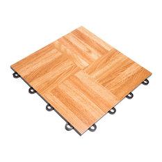 "FlooringInc Practice Dance Tiles 12""x12"", Oak, 52 Tiles - 52 Sqft"