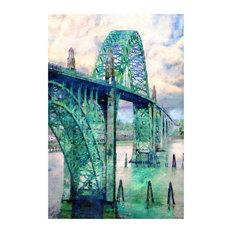 "Lisa Sofia Robinson ""Yaquina Bay Bridge"" (Newport, Art Print, 24""x36"""