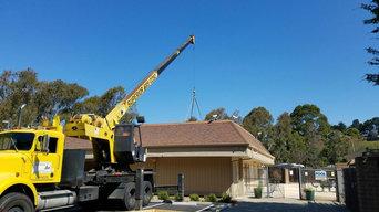 Richmond Installation - Crane lift of 15-ton unit with 3-phase inverter.