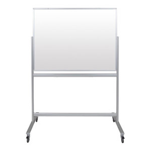 "Luxor Double, Sided Mobile Magnetic Glass Marker Board, 48""x36"""