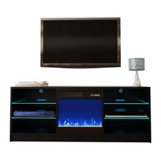 Manhattan Electric Fireplace Modern 58-inch Tv Stand