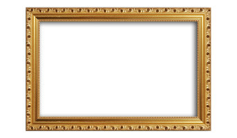 "Gold Leaf Solid Wood Ornate Frame, Regular Glass, Horizontal, 15""x18"""