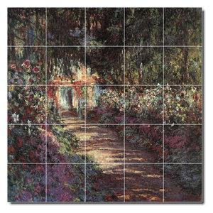 Rikki Knight 12 x 12 Claude Monet Sailing at Sainte Adresse Design Ceramic Art Tile