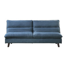 Lexicon Mackay Upholstered Click Clack Convertible Sofa In Blue