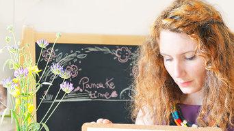 Tovaglietta illustrata handmade - tavola per merenda bambini