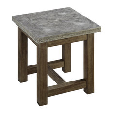 Home Styles Furniture   Concrete Chic End Table   Outdoor Side Tables