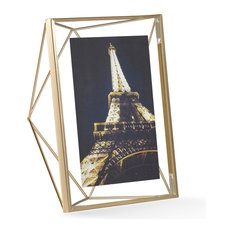 "Prisma Photo Frame, Matte Brass, 5""x7"""