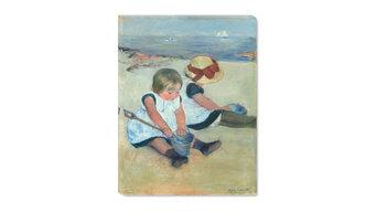 "Fine Art Canvas Print, Children Playing on the Beach, 18""x24"""