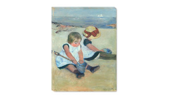 "Fine Art Canvas Print, Children Playing on the Beach, 18""x24"""