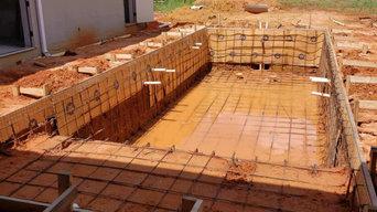 Gunite pool build