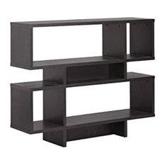 Baxton Studio Cassidy 4-Level Modern Bookshelf Dark Brown