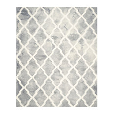 Safavieh Dip Dye Collection DDY540 Rug, Gray/Ivory, 10'x14'