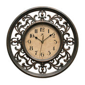 Sofia Silent Sweep Wall Clock, 12""