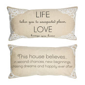 Welcome Home Message Pillow Housewarming Wedding New Home Gifts
