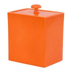 Varius Rectangular Ceramic Biscuit Jar, Orange