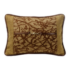 Tree Pillow With Buckle Detail, 14x20