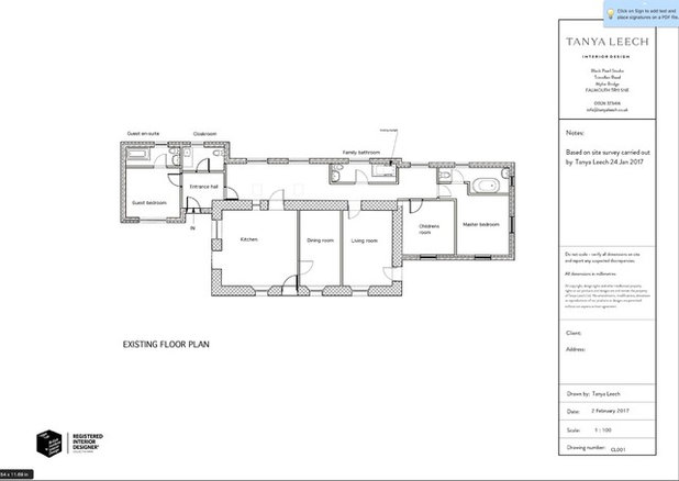 Floor Plan by Tanya Leech Ltd.
