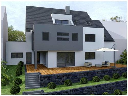 Terrasse mit l steinen for Tipps fur gartengestaltung