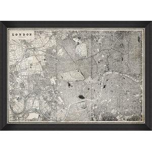 """London Map"" Fine Art Print, 70x100 cm"
