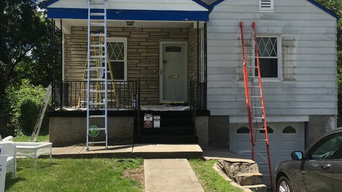 Exterior repaint in silverton (before-front)