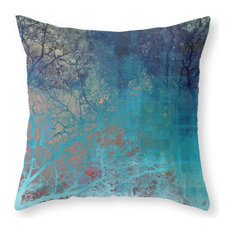 "On the Verge of Blue Pillow Cover, 20""x20"" With Insert"