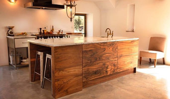 Bespoke English walnut Island unit