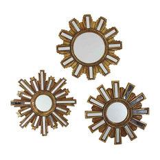 EMDE Soleil Mirrors, Gold, Set of 3