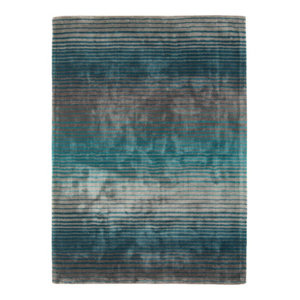 Holborn Turquoise Teal Grey Rectangle Modern Rug 120x170cm