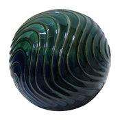 "Waves Ceramic Gazing Globe, Multicolor, 10"""