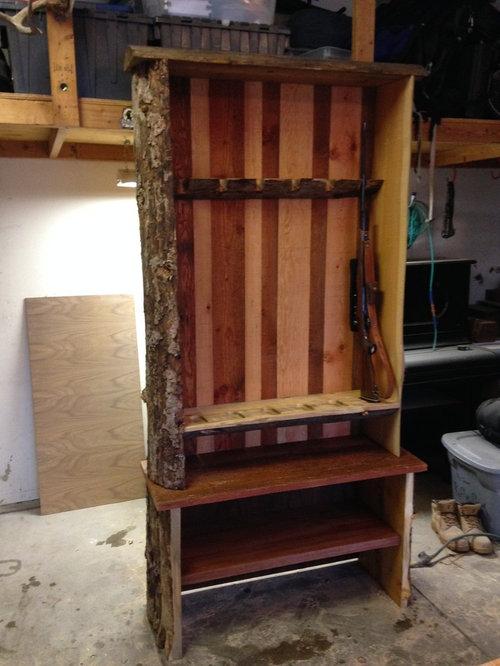 Custom Gun Cabinet - Rustic Cabinet for Cabin