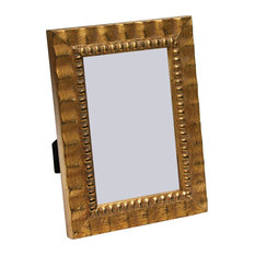 """Arezzo Antique Frame, Gold With Beads, 4""""x6"""""""